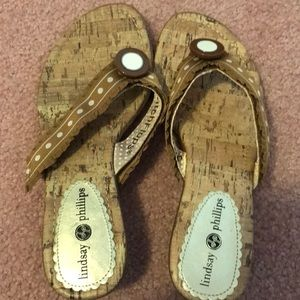 Lindsay Phillips switch flops, used
